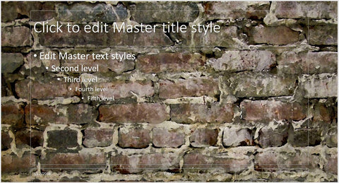 Abstract Old Big Brick Wall Background PowerPoint Presentation Template - Clickstarters