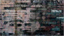 Abstract Old Dark Brick Wall Background PowerPoint Presentation Template - Clickstarters