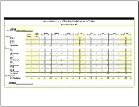 Annual Budgeting and Planning Worksheet - Clickstarters
