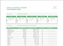 Annual Finance Report Dashboard Template - Clickstarters
