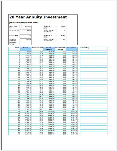 Annuity Investment Calculator - Clickstarters