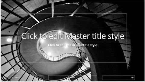 Black and White Stairwell PowerPoint Presentation Template - Clickstarters
