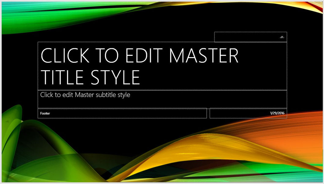 Brilliant Black Green Yellow Red Color PowerPoint Presentation Template - Clickstarters