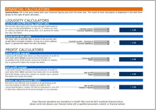 Business Financial Calculations and Ratios Tool - Clickstarters