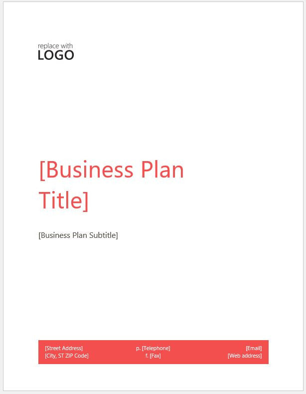 Business Plan Template (modern style) - Clickstarters