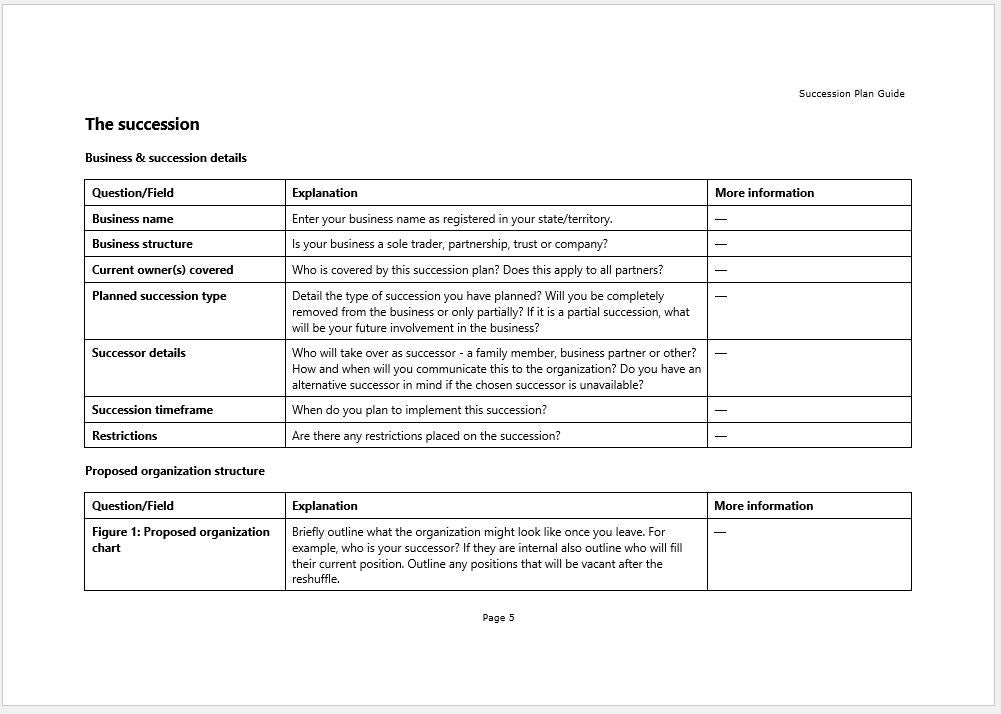 Corporate Succession Planning Template Aprilonthemarchco - Succession plan template and guide