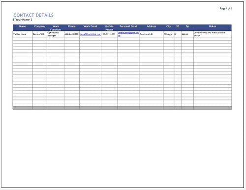 Customer Relationship Management (CRM) Excel Template