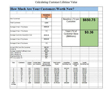 Customer Life Time Value ROI Worksheet - Clickstarters