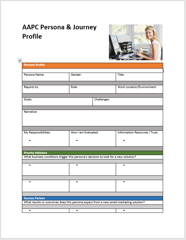 Customer Persona Profile Template - Clickstarters
