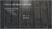 Dark Wooden Slats Background PowerPoint Presentation Template - Clickstarters