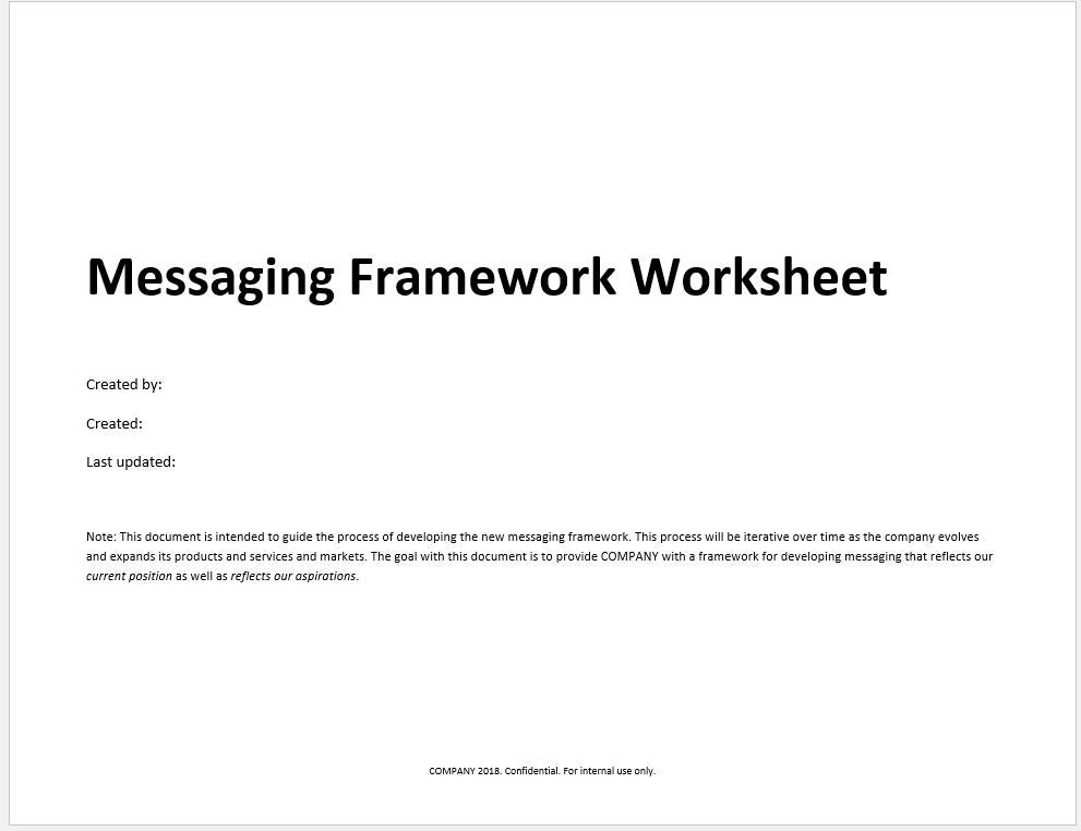 Detailed Company Messaging Worksheet and Template with Examples - Clickstarters