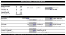 Email Marketing ROI Calculator Worksheet