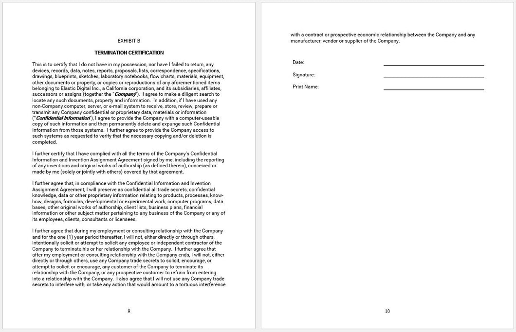 Employee Confidentiality Agreement Template Clickstarters