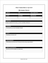 Employment Reference Check Form - Clickstarters