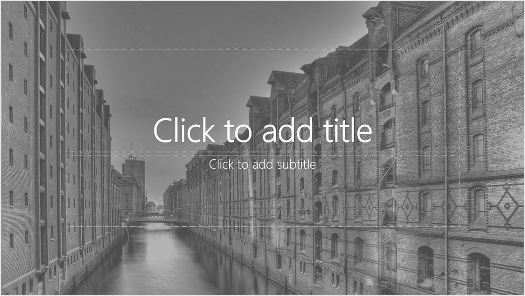 European City and Canal PowerPoint Presentation Template - Clickstarters
