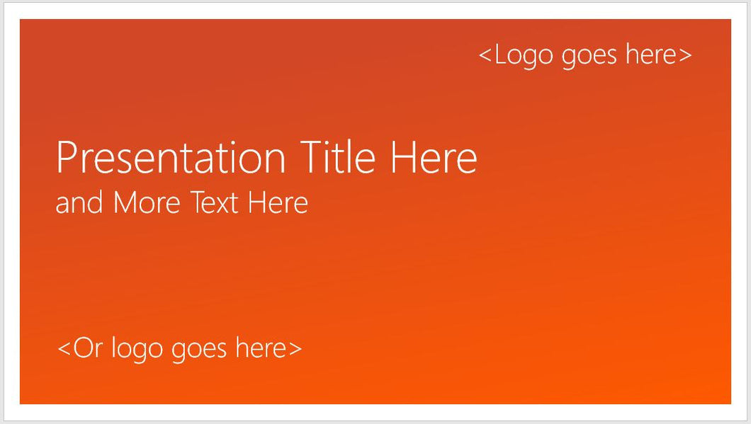 Flat and Modern PowerPoint Presentation Orange Template - Clickstarters
