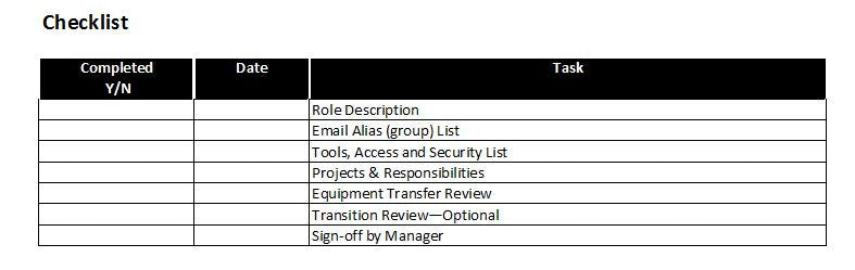 Job Or Role Transition Plan Template – Clickstarters