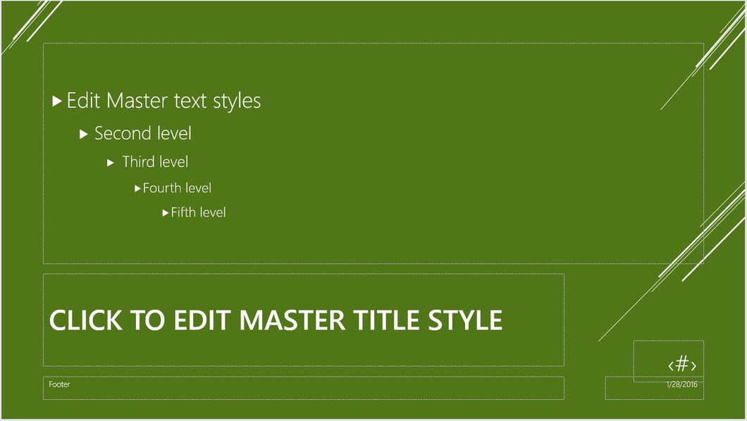 Laser Lined Green PowerPoint Presentation Template - Clickstarters
