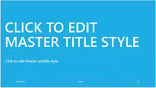 Light Blue Modern and Big Bold Text PowerPoint Presentation Template - Clickstarters
