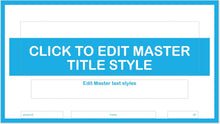 Light Blue Modern and Bold Text PowerPoint Presentation Template - Clickstarters