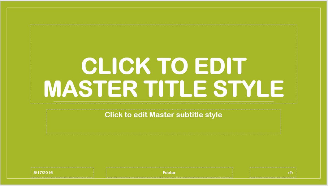 Light Green Modern and Bold Text PowerPoint Presentation Template - Clickstarters