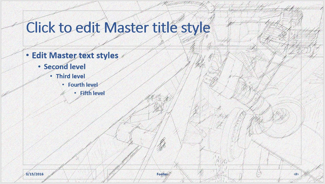 Line Drawing of Structure Background PowerPoint Template - Clickstarters