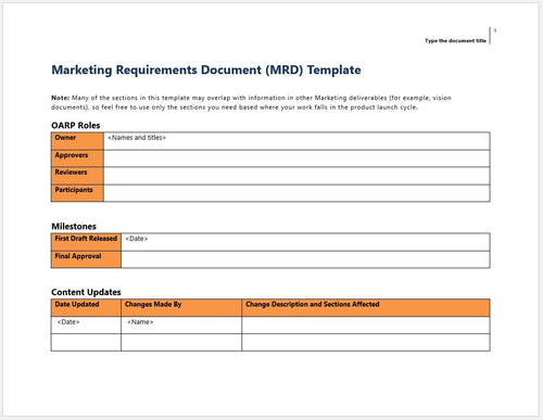 Products Tagged Marketing Requirements Document Clickstarters - Marketing requirements document template