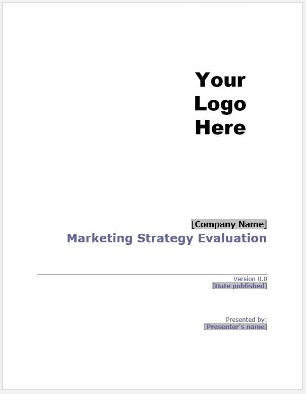 Marketing Strategy Evaluation Template - Clickstarters