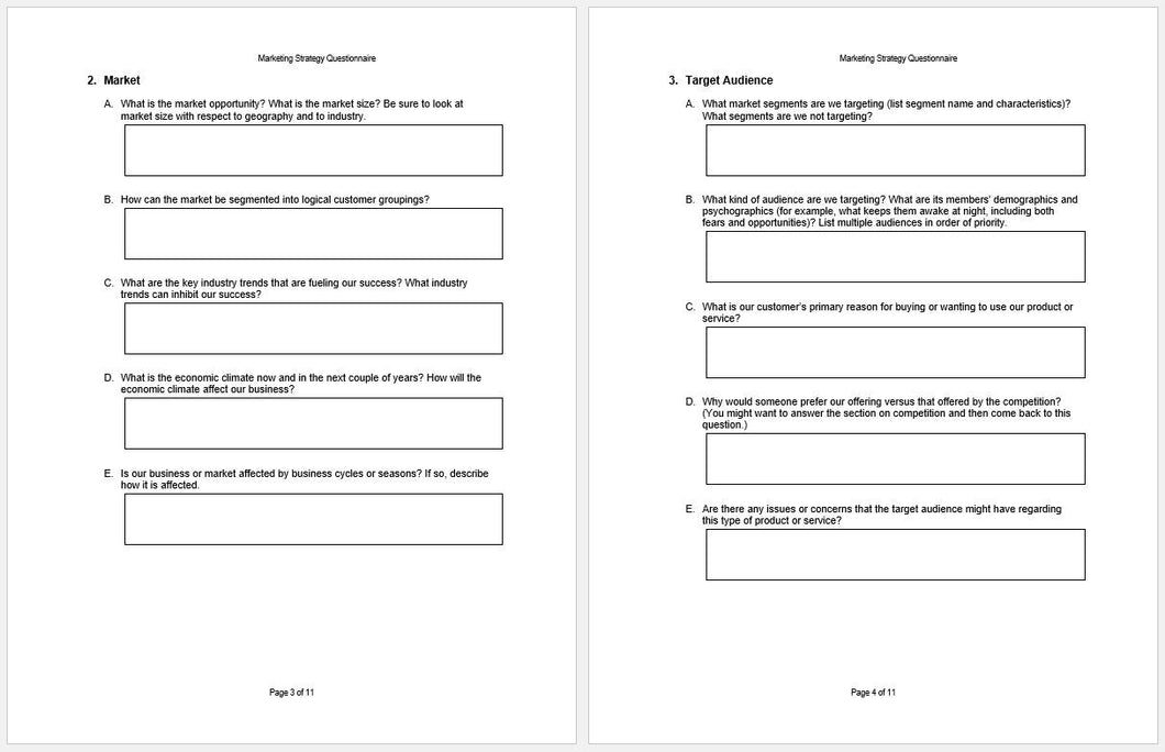 Questionnaire template sample questionnaire template 30 for Questionair template