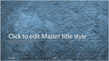 Ocean Blue Stucco Background PowerPoint Presentation - Clickstarters