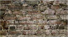 Old Big Brick Wall Background PowerPoint Presentation Template - Clickstarters