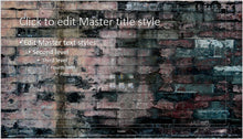 Old Dark Brick Wall Background PowerPoint Presentation Template - Clickstarters