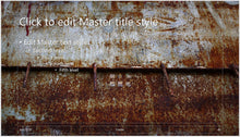 Old Rusted Metal Wall Background PowerPoint Presentation Template - Clickstarters