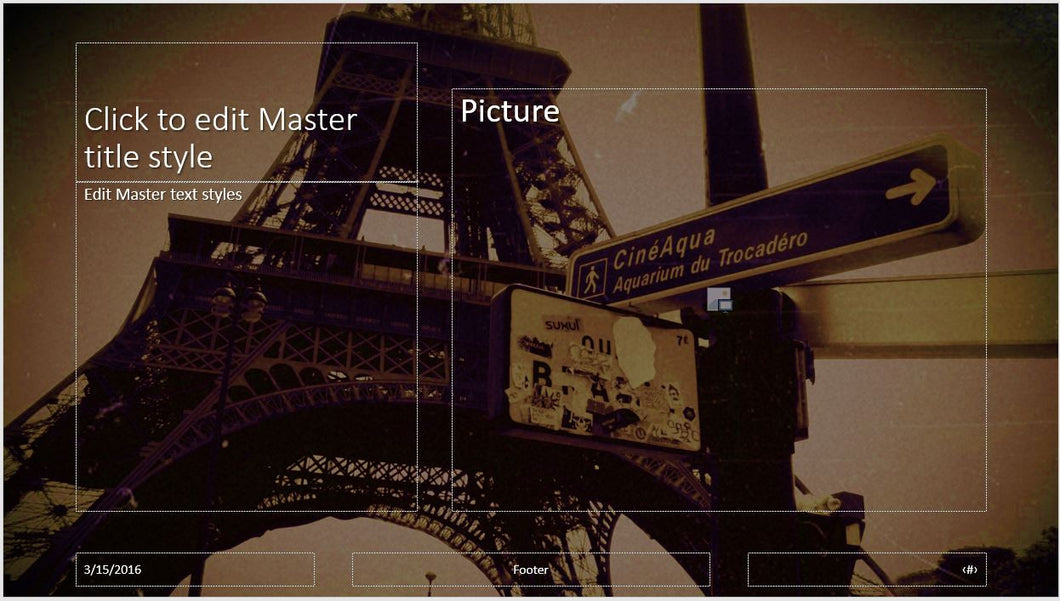 paris eiffel tower background powerpoint template – clickstarters, Modern powerpoint