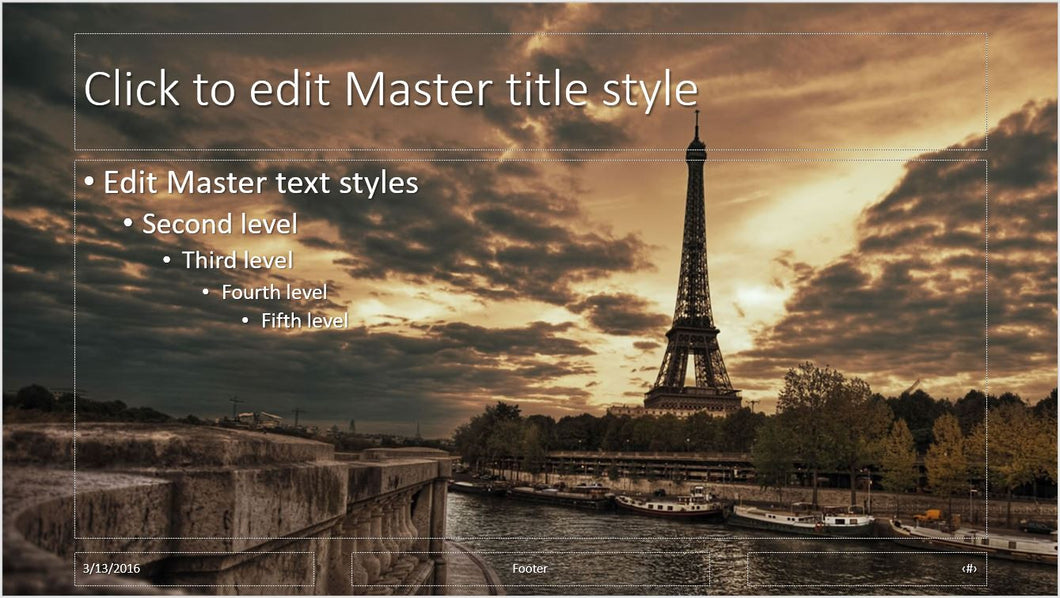 paris eiffel tower and river background powerpoint presentation, Modern powerpoint