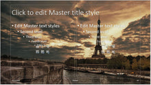 Paris Eiffel Tower and River Background PowerPoint Presentation Template - Clickstarters