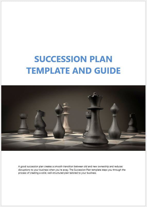 Business Succession Plan Template And Guide Clickstarters - Succession plan template and guide