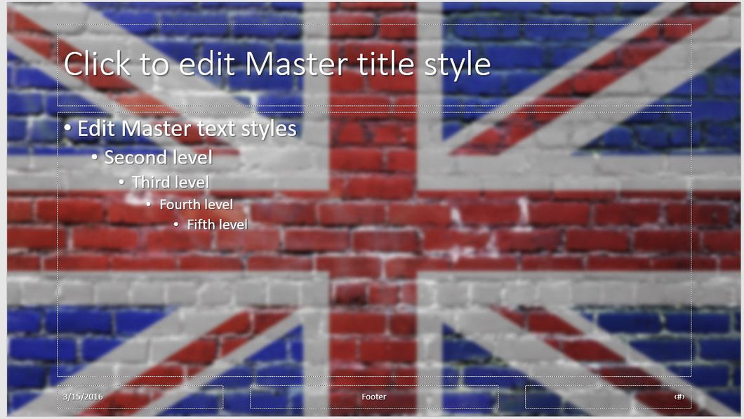 Uk flag on wall background powerpoint template clickstarters uk flag on wall background powerpoint template clickstarters toneelgroepblik Gallery