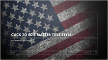 Vintage United States Flag Background PowerPoint Presentation Template - Clickstarters