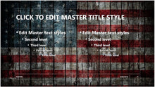 Vintage United States Flag Painted on Wood Slats Background PowerPoint Presentation Template - Clickstarters