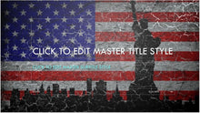 Vintage United States Flag with Statue of Liberty and City Skyline Background PowerPoint Presentation Template - Clickstarters