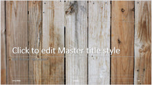 Wooden Fence Slats Background PowerPoint Presentation Template - Clickstarters