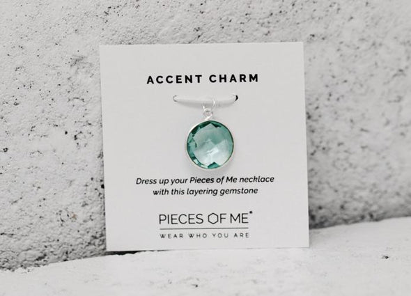 Sea Crystal Accent Charm - Pieces of Me