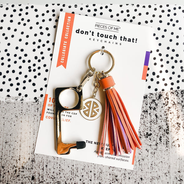Don't Touch That! Keychains- Collegiate