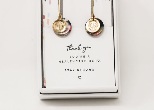 Strong Hoop Earrings- Neutral Beauty - Pieces of Me