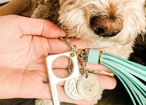 Dog Mom Keychain Charm