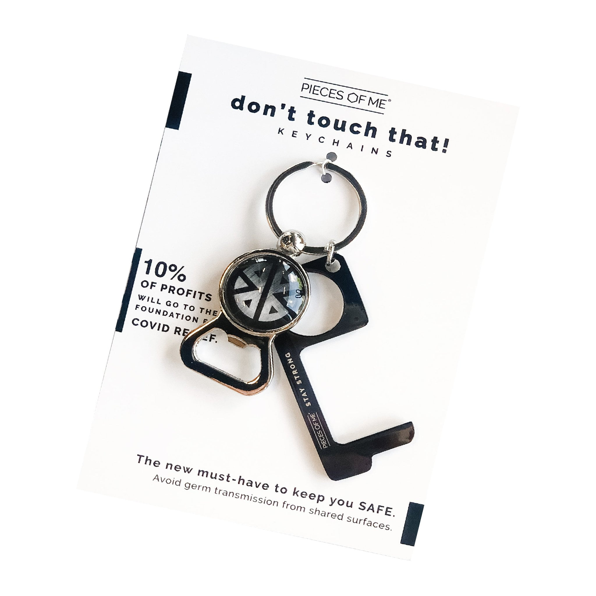 Black Keychain - Bottle Opener