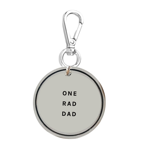 One Rad Dad Keychain Charm