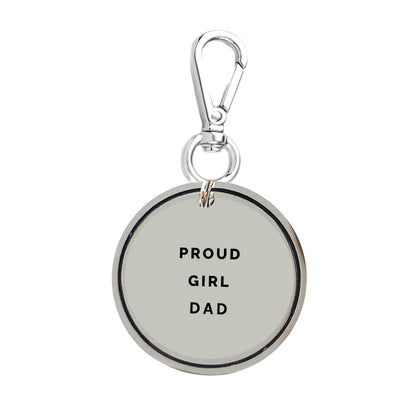 Proud Girl Dad Keychain Charm