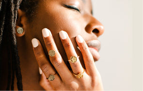 NEW Gold Adjustable Rings